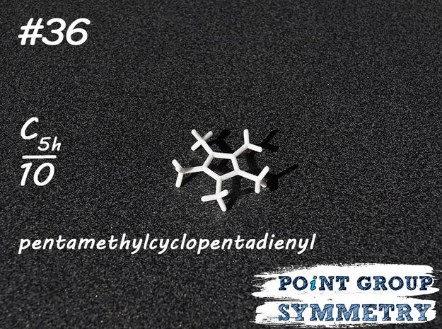 #36 C5hpentamethyl-cyclopentadienyl in White Natural Versatile Plastic