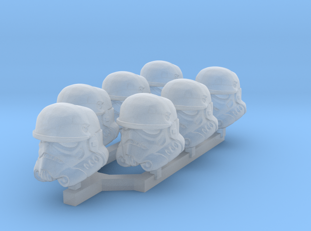 Extreme Environment Trooper Heads in Smoothest Fine Detail Plastic