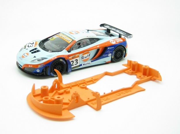 PSSX00201 Chassis for Scalextric McLren MP4-12c in Orange Processed Versatile Plastic