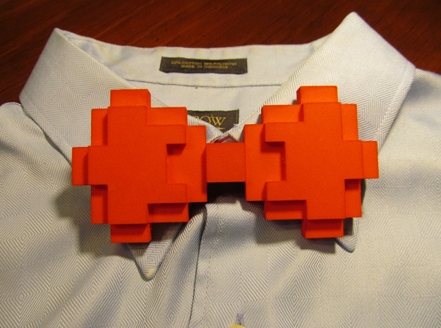 8-bit Bow tie in Red Strong & Flexible Polished
