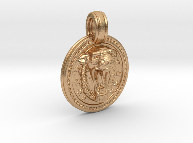 Lionar_pendant_55mm in Natural Bronze