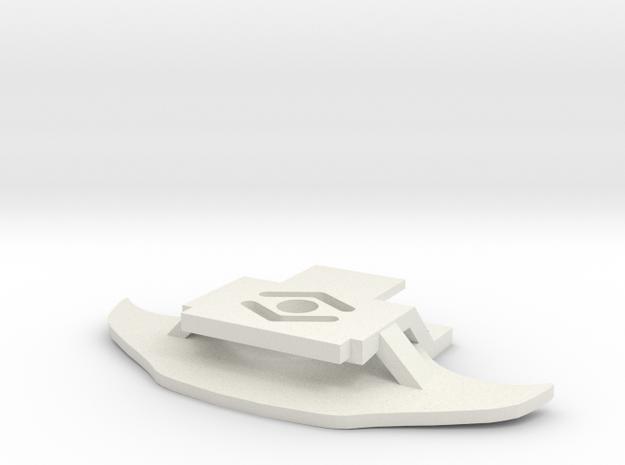 Porsche GT3RS Front Karohalter für AMZ in White Natural Versatile Plastic