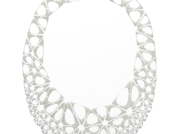 Kinematics 111n necklace in White Natural Versatile Plastic