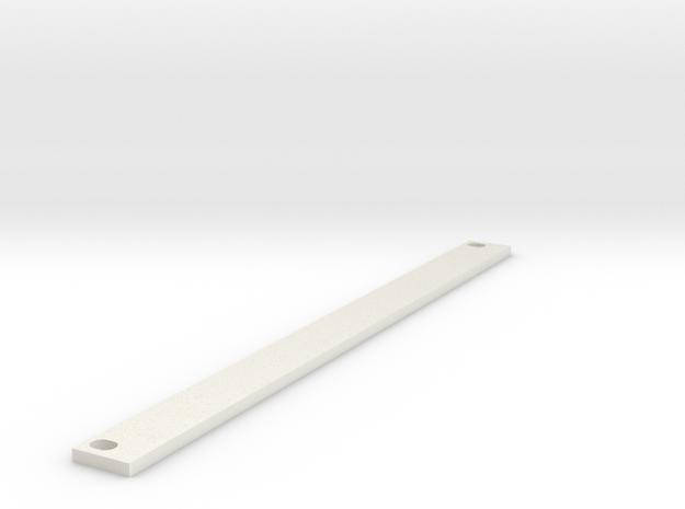 Eurorack Blank Panel 2HP in White Natural Versatile Plastic