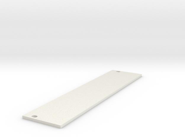 Eurorack Blank Panel 6HP in White Natural Versatile Plastic