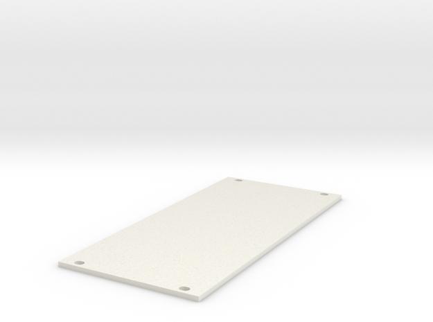Eurorack Blank Panel 12HP in White Natural Versatile Plastic