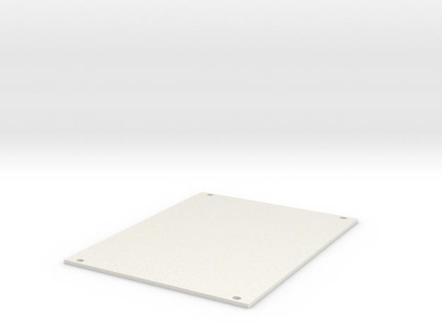 Eurorack Blank Panel 20HP in White Natural Versatile Plastic