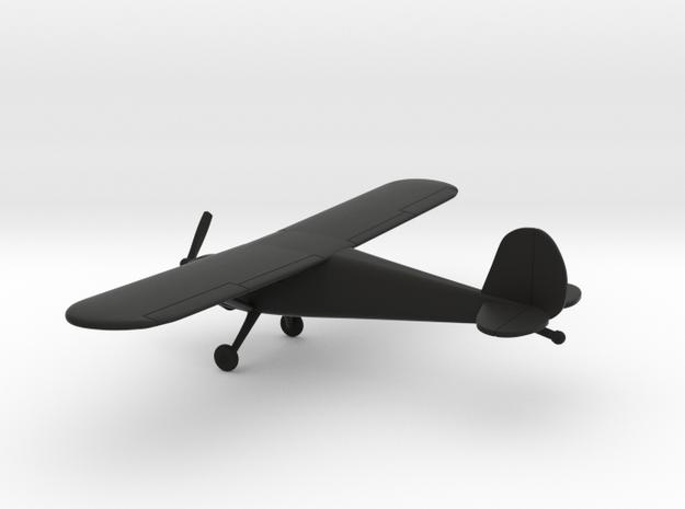 Cessna 120 in Black Natural Versatile Plastic: 1:100