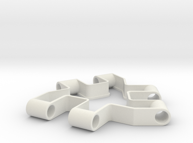 Material test part, Modular building block in White Natural Versatile Plastic