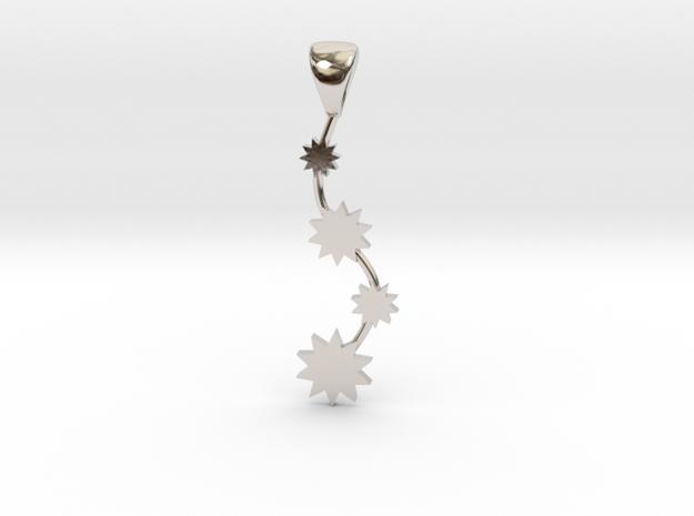 PowerFall Pendant in Rhodium Plated Brass
