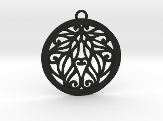 Aria pendant in Black Natural Versatile Plastic: Medium