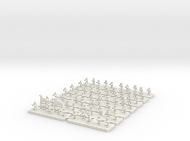 6mm Regimental Headquarters Company in White Natural Versatile Plastic