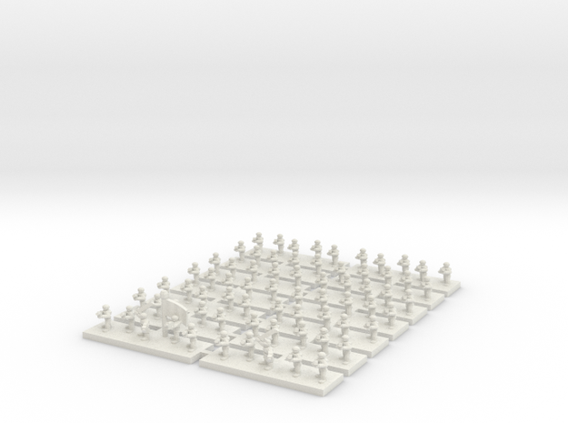 6mm Infantry Company in White Natural Versatile Plastic