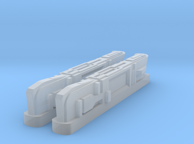 Turtleshell Antagonist Nacelles 1 in Smooth Fine Detail Plastic