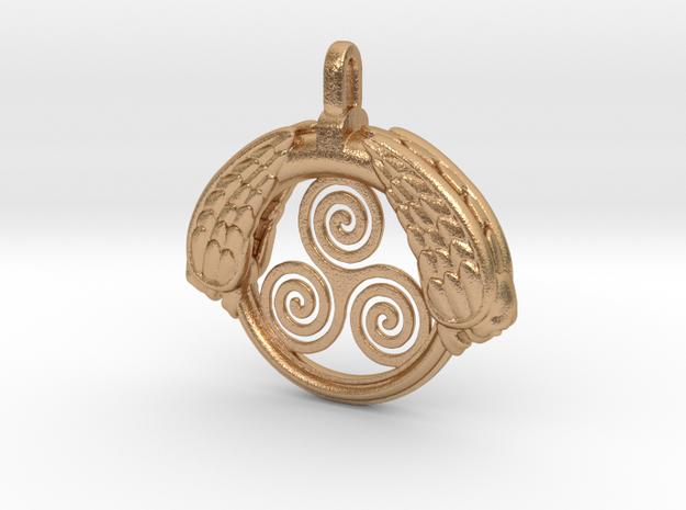 TombAngel_pendant_43mm in Natural Bronze