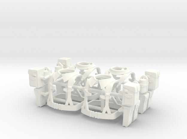 BRELAGE UK WW2 x4  in White Processed Versatile Plastic