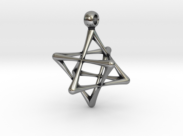DOUBLE TETRAHEDRON STAR in Antique Silver