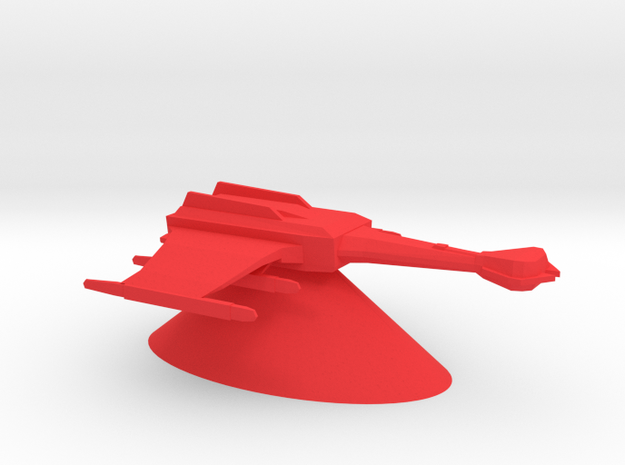 Klingon Empire - Battlecruiser in Red Processed Versatile Plastic