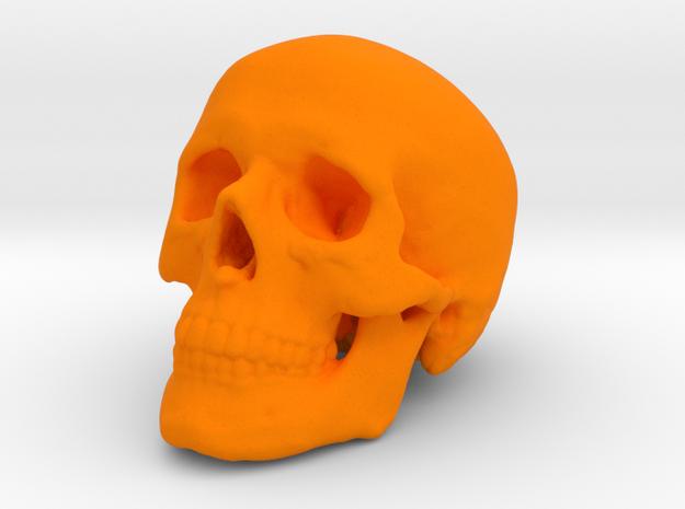 Skull 30 mm in Orange Processed Versatile Plastic