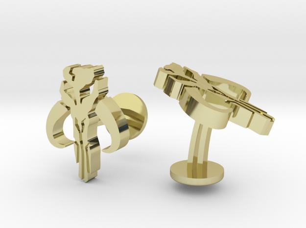 Star Wars Mandalorian Cufflinks in 18k Gold Plated Brass