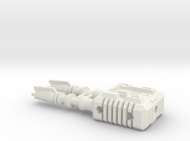 TF CW Dead End Slim Car Cannon in White Natural Versatile Plastic