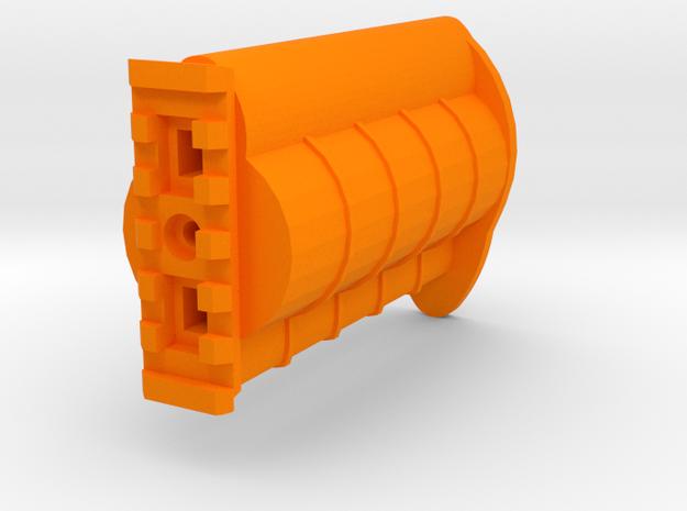 Incognito Pistol Stock for TeleScopix System in Orange Processed Versatile Plastic