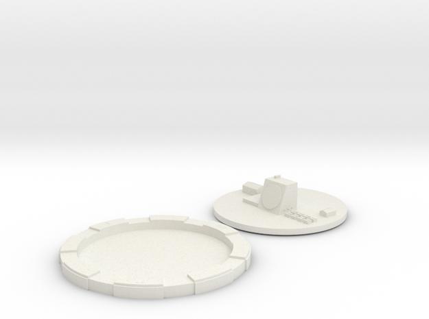 """Early Warning Radar 2"""" Base in White Natural Versatile Plastic"""