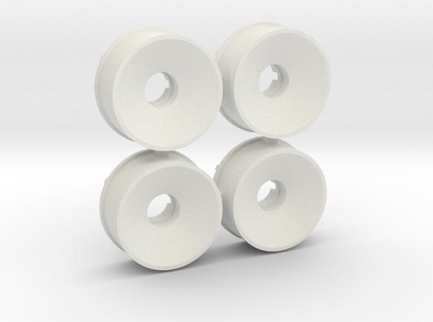 4x 19er Felge 1er Offset vorn in White Natural Versatile Plastic