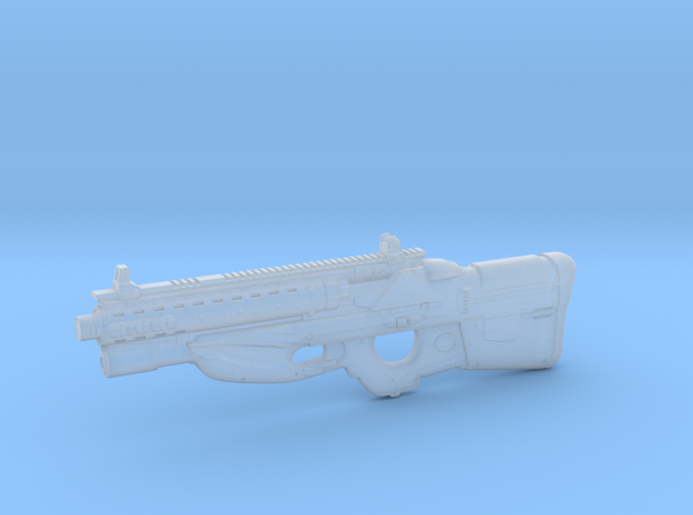 cyberpunk / near future rifle FN F2076 CQB in 1/6  in Smooth Fine Detail Plastic