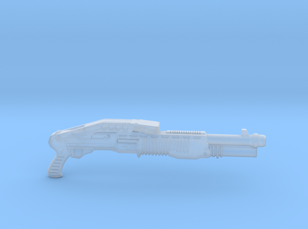 cyberpunk - near future shotgun in 1/6 scale in Smooth Fine Detail Plastic