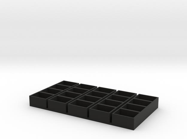 quad long 13x18x9.5 speaker box qty5 in Black Natural Versatile Plastic