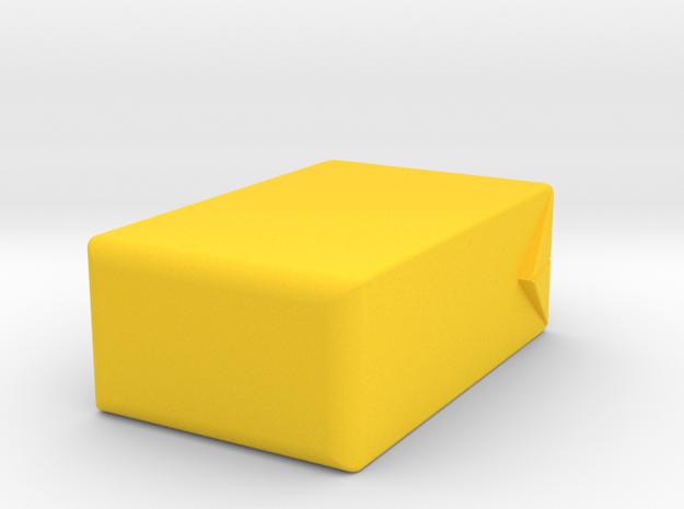 Juice Box Vase in Yellow Processed Versatile Plastic