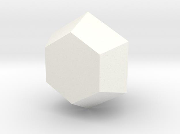 Upside-Down Diamond Vase in White Processed Versatile Plastic