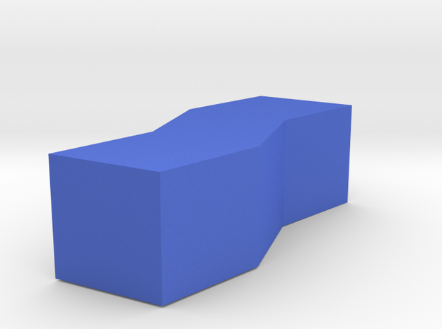 Stacked Rhombus Vase in Blue Processed Versatile Plastic
