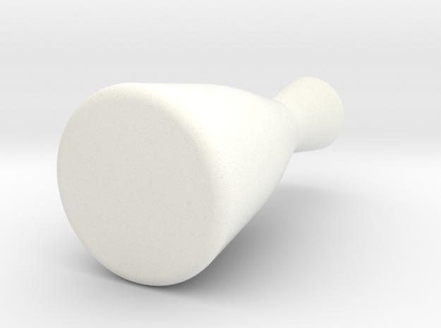 Sake Pitcher Vase in White Processed Versatile Plastic
