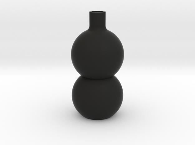 Stacked Sphere Vase in Black Natural Versatile Plastic