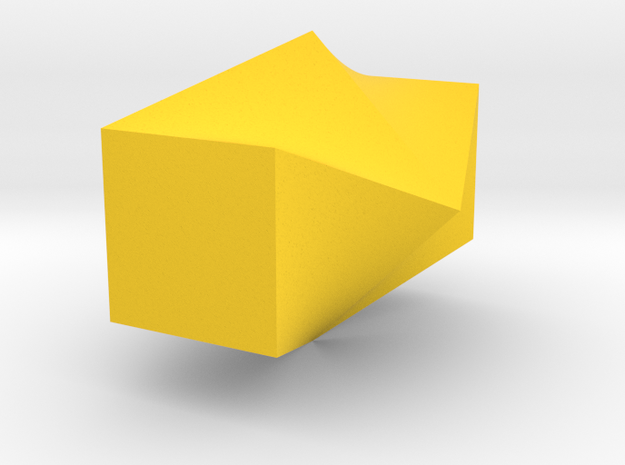 Twisted Square Vase in Yellow Processed Versatile Plastic