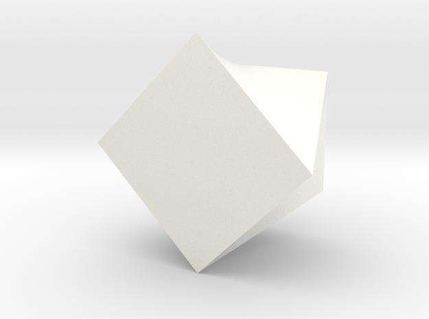 Twisted Square Planter in White Processed Versatile Plastic