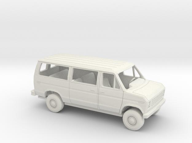 1/43 1975 -91 Ford E Van Sliding Side Door Kit in White Natural Versatile Plastic