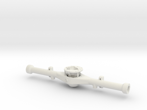 Hilux Rear Axle - wide spring track in White Natural Versatile Plastic