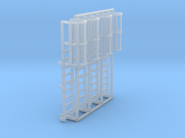 1:100 Cage Ladder 29mm Top in Smooth Fine Detail Plastic