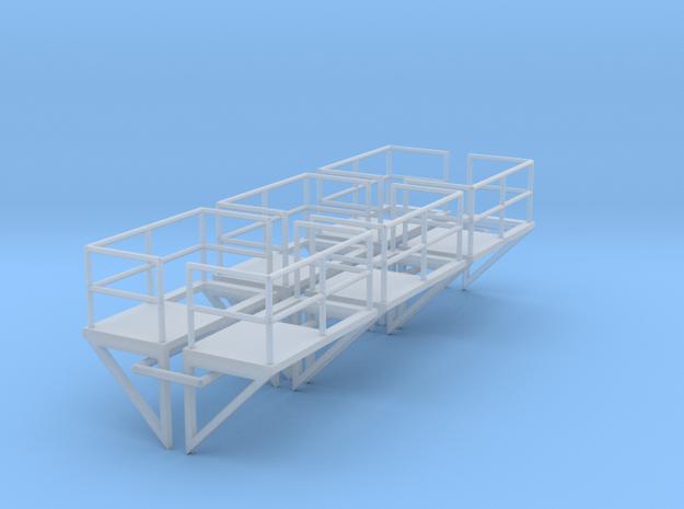 1:100 Ladder Platform Left+Right 6pc in Smooth Fine Detail Plastic