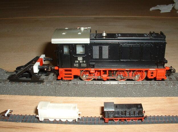 Diesel-Switcher V36 / WR360 1/285 6mm 3d printed only the 2 little V36