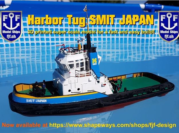 Harbor Tug Hull 1:50 V40 in White Natural Versatile Plastic