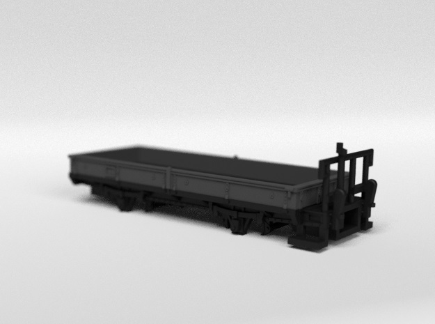RhB M7020 Open Freight Wagon in Smooth Fine Detail Plastic