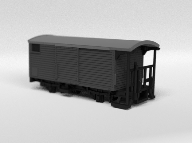RhB K5201 Refit Closed Freight Wagon in Smooth Fine Detail Plastic