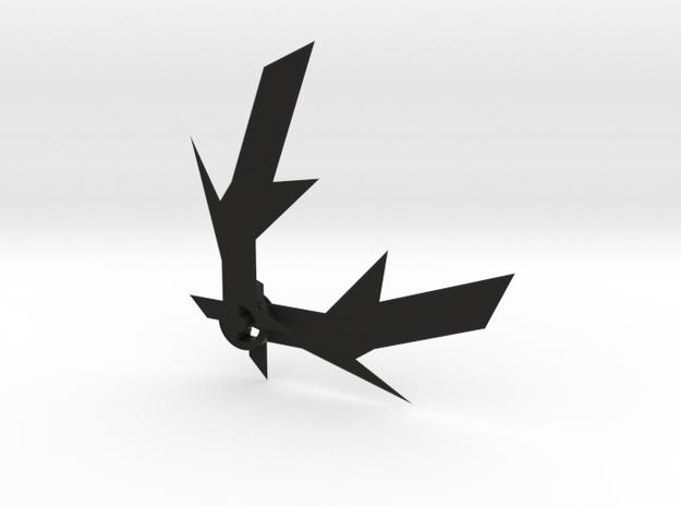 Folding Batarang in Black Natural Versatile Plastic
