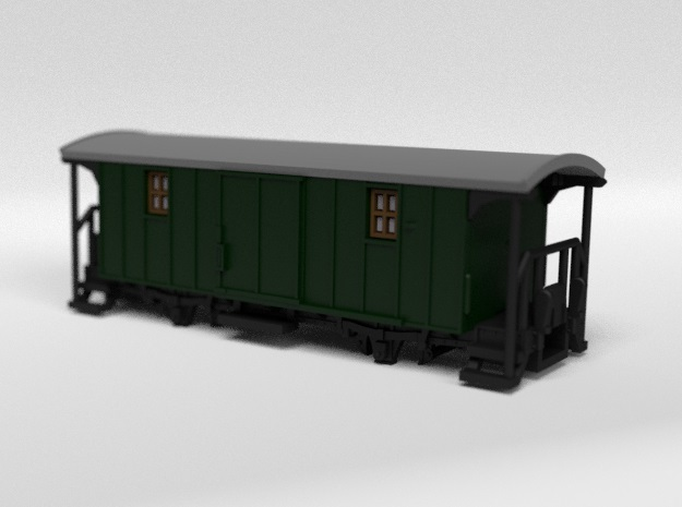 RhB F4001 Baggage Wagon in Smooth Fine Detail Plastic