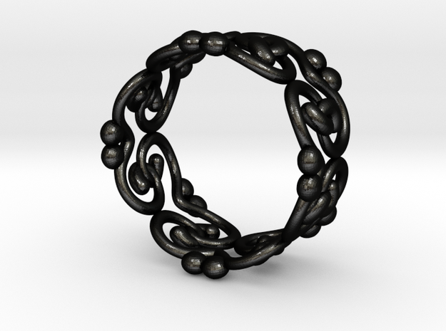 filigree ring in Matte Black Steel: 9 / 59