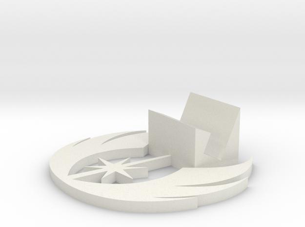 Jedi Symbol Business Card Holder in White Natural Versatile Plastic